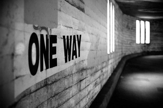 Customer Service Is Not A Two Way Street | One Way Sign