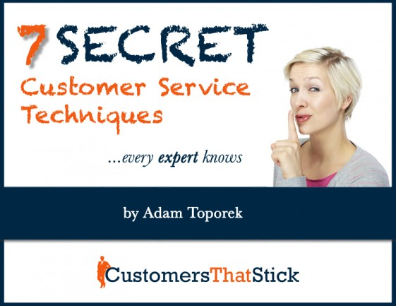 7 Secret Customer Service Techniques | Free eBook Cover