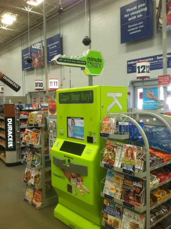 Lowe's Customer Service, Automation | Self-Serve Key Copy Machine