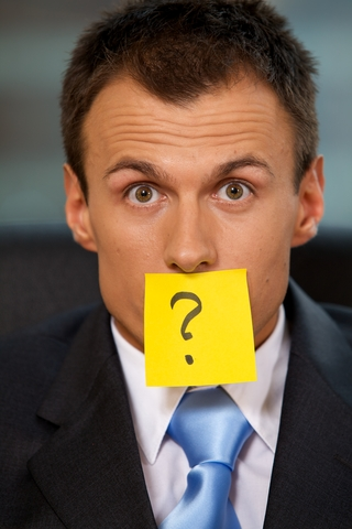 Sales, Customer Service or Operations | Person with question mark