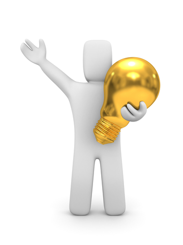 33 Ways to Tap Internal Consultants | Person with Gold Lightbulb