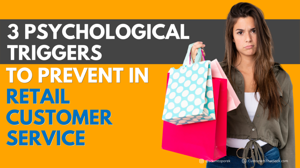 3 Psychological Triggers to Prevent in Retail Customer Service | Upset girl holding shopping bags